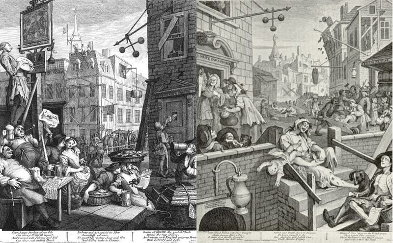 Dibujo de William Hogarth.
