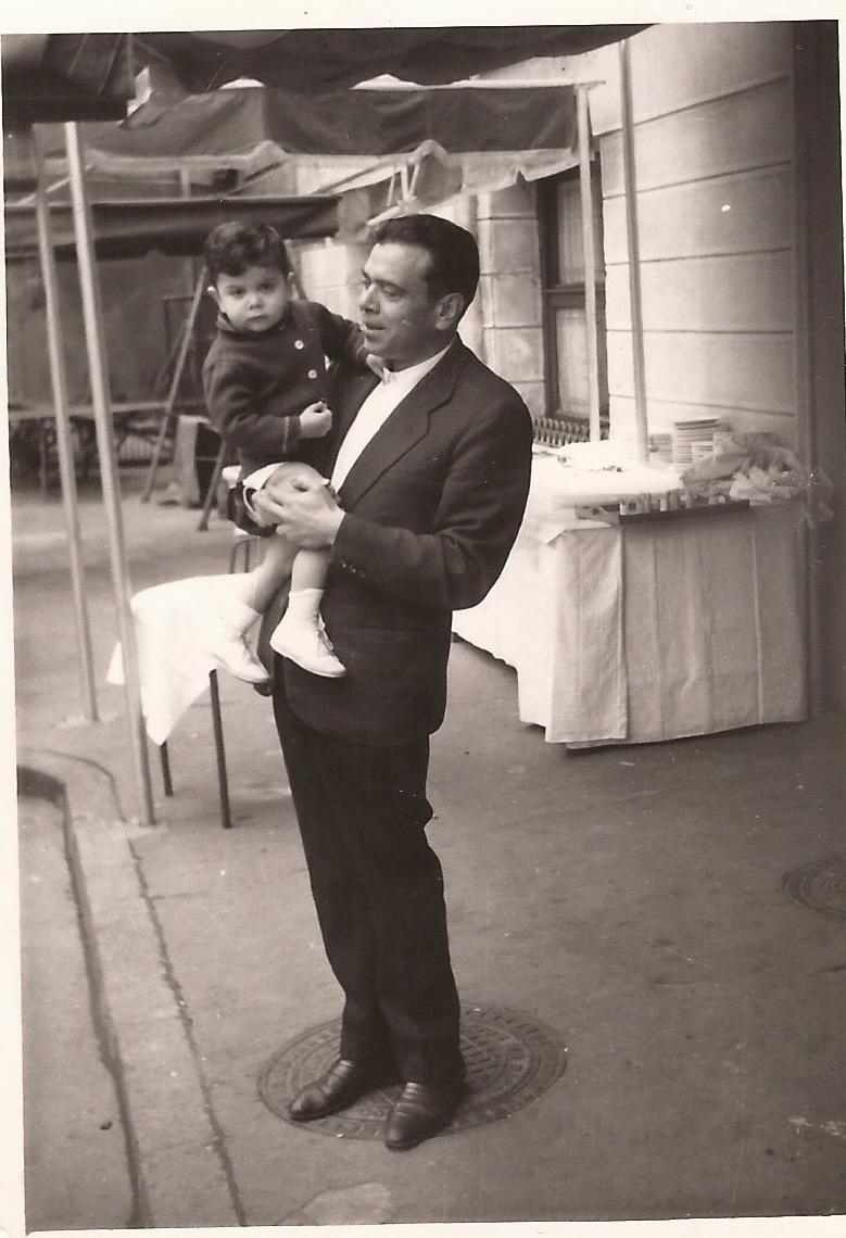 Mi padre y yo, dando los primeros pasos en el negocio.